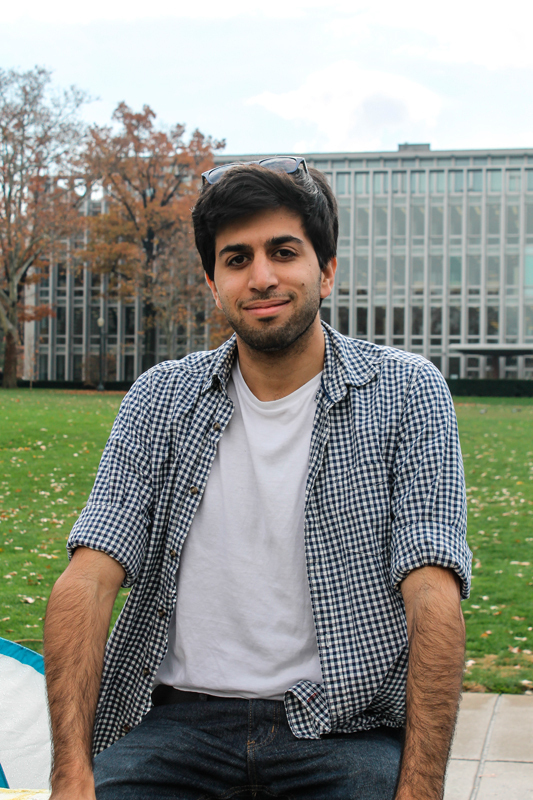 Junior electrical engineering and physics double major Chay Machluf is an exchange student at Carnegie Mellon this semester from Israel. He thinks constantly of his family back home, as they are living in the middle of a conflict. (credit: Laura Scherb/Operations Manager)