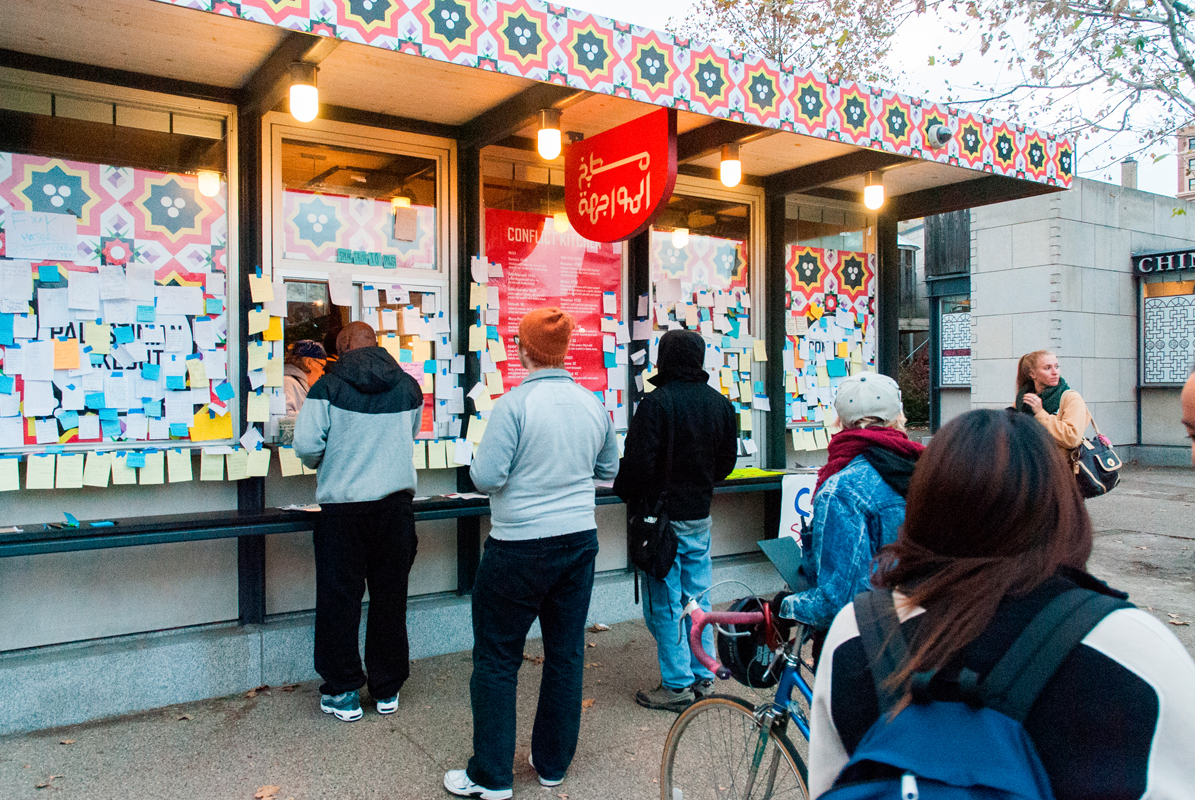 Conflict Kitchen, which closed after receiving a letter containing death threats, reopened last week with support from organizations like the University of Pittsburgh's Students for Justice in Palestine, which staged a sit-in in support of the restaurant. (credit: Justin McGown/)