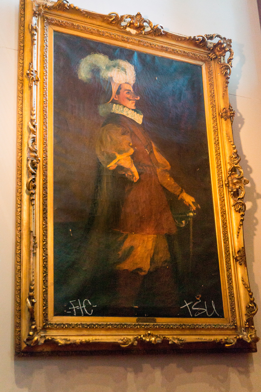 The painting depicts Richard Mansfield, a late 19th century stage actor.