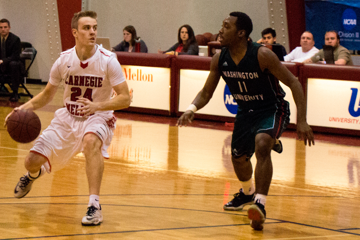 Jason Sebak attacks the basket. (credit: Andy Birla/)