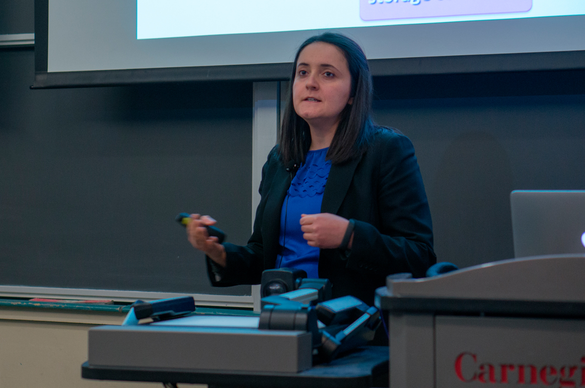 Duygu Kuzum, a postgraduate in electrical engineering at Standford University, spoke about nanoelectronics. (credit: Abhinav Gautam/Photo Editor)