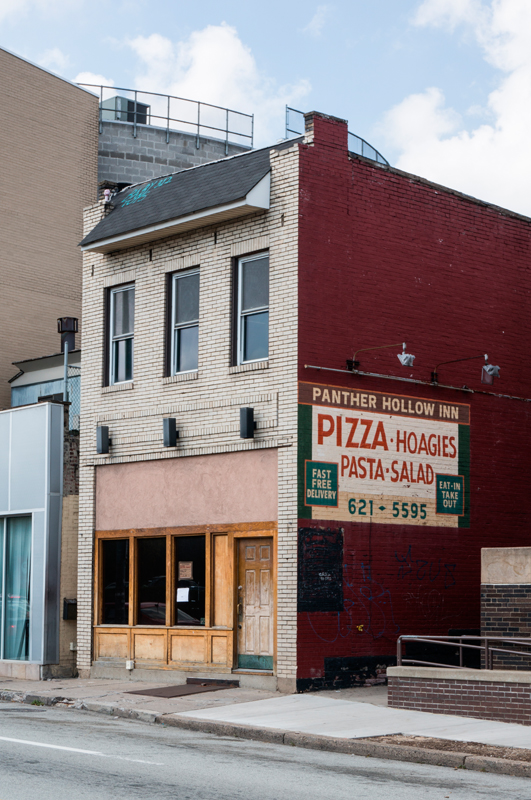 4611 Forbes Avenue — formerly the location of the Panther Hollow Inn — is the subject of plans filed with the Pittsburgh Department of City Planning to build a Chipotle Mexican Grill.  (credit: Abhinav Gautam/Photo Editor)
