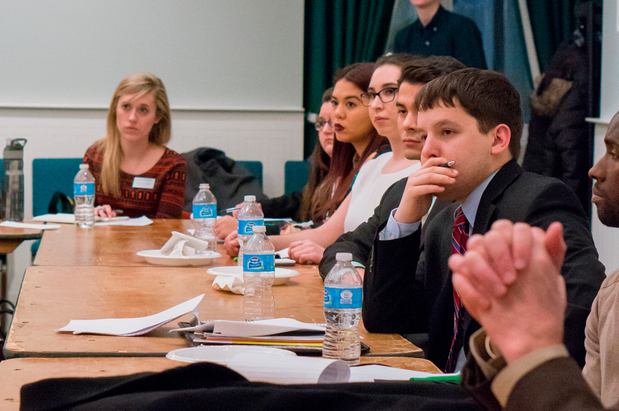 Members of the Pittsburgh Student Government Council were the audience of Peduto's talk. (credit: Abhinav Gautam/Photo Editor)