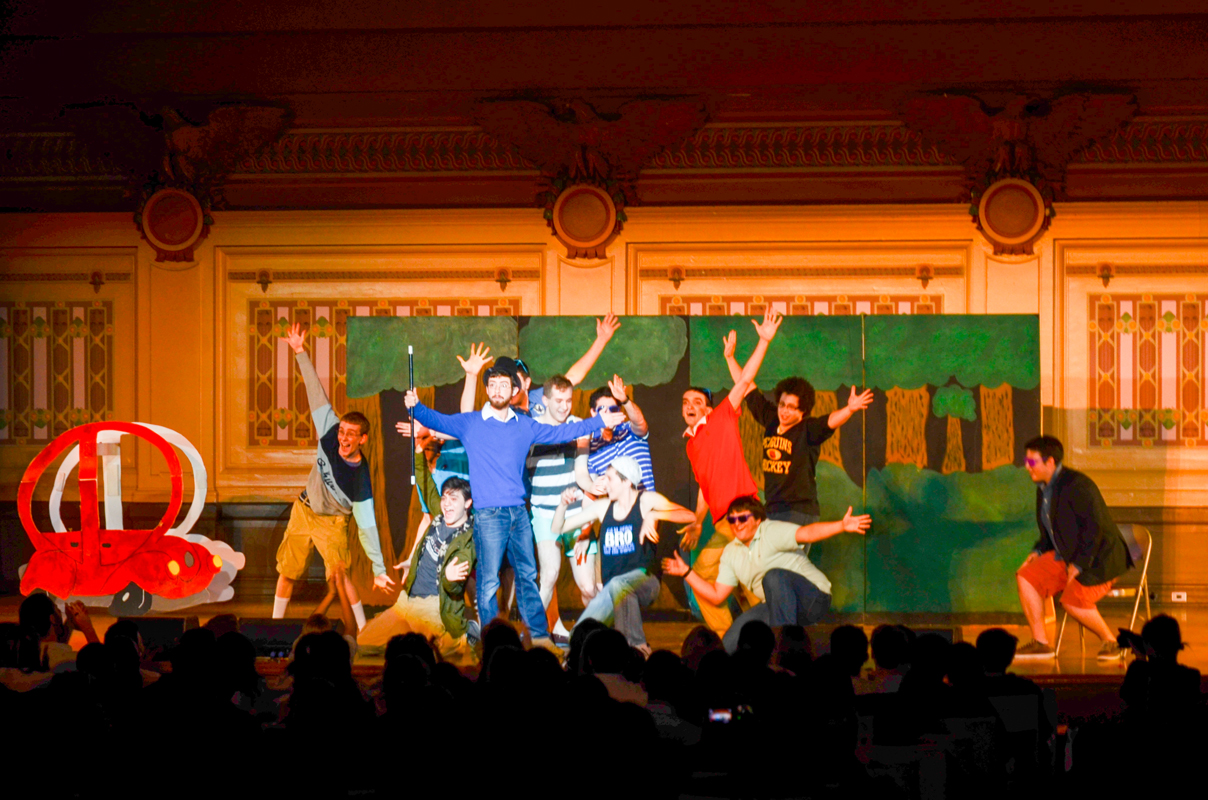 The brothers of Alpha Epsilon Pi had the entire audience laughing during their version of Monty Python's Spamalot. (credit: Amelia Britton/Assistant Copy Manager)