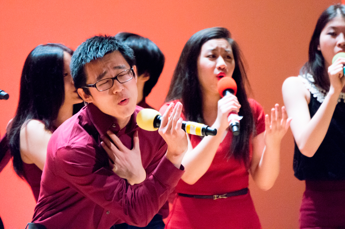 Even though it was one of their first performances, new a cappella group C# wowed audiences with their powerful set. (credit: Abhinav Gautam/Photo Editor)
