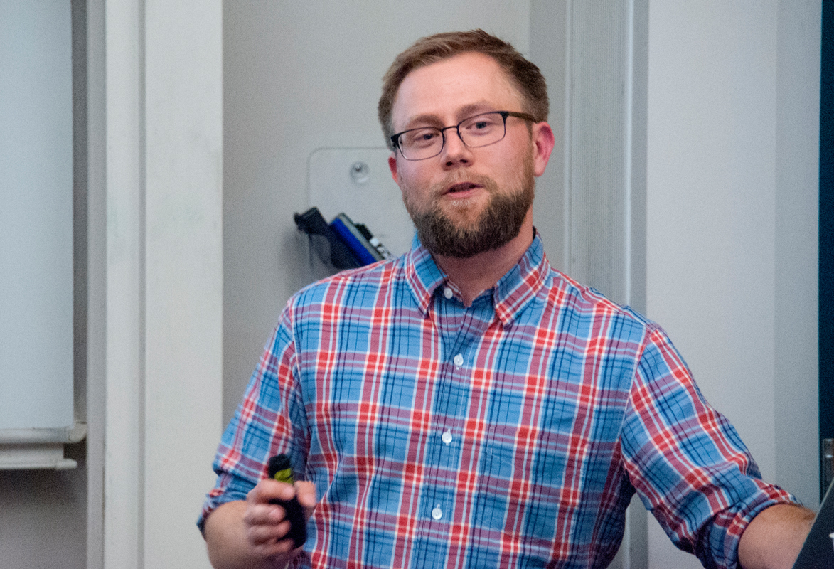Joel Brandt, a senior research scientist and engineering manager at Adobe Research, spoke about the way technology can promote creativity and design at this week's Human Computer Interaction Institute seminar.