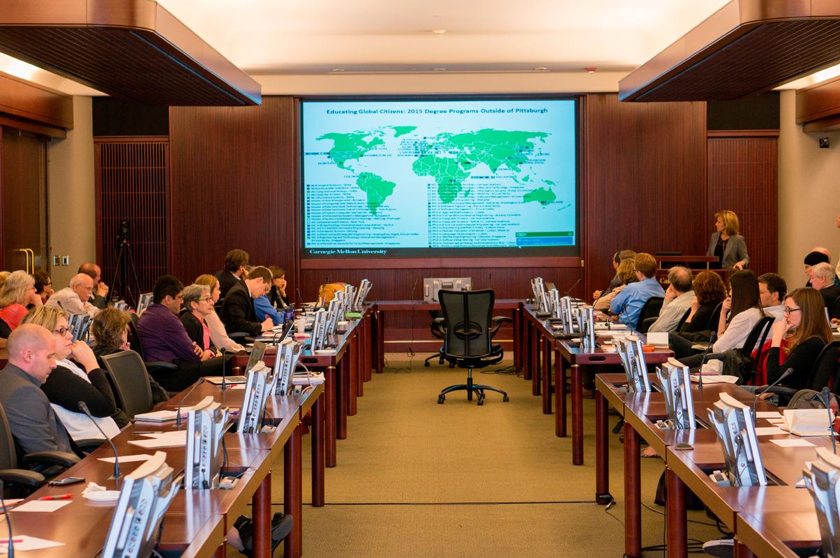 Carnegie Mellon professors discussed the university's global strategies and programs. (credit: Abhinav Gautam/Photo Editor)