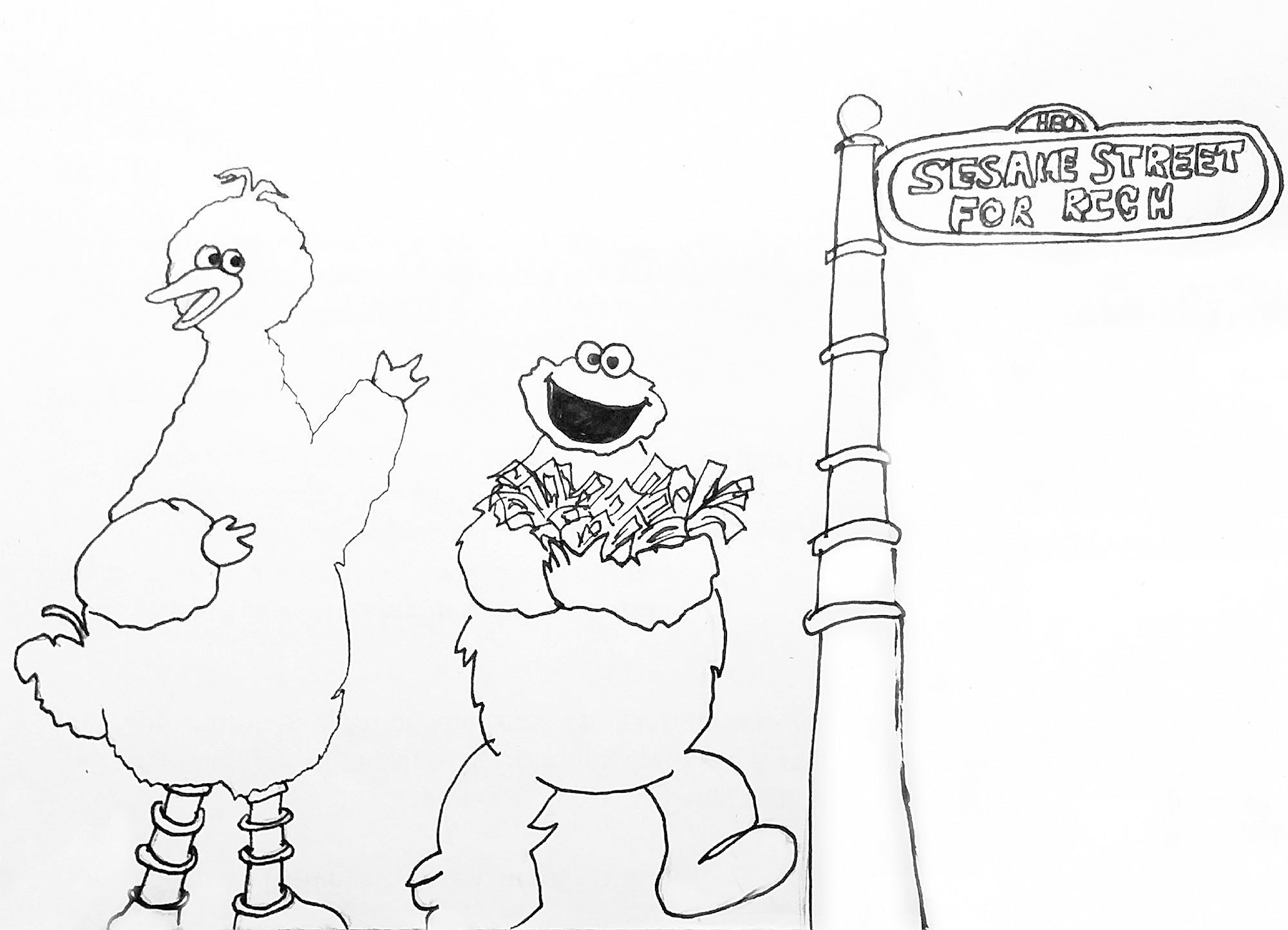 """Sesame Street marries HBO, moves to """"Capitalism Road"""" (credit: Clara Kim/)"""