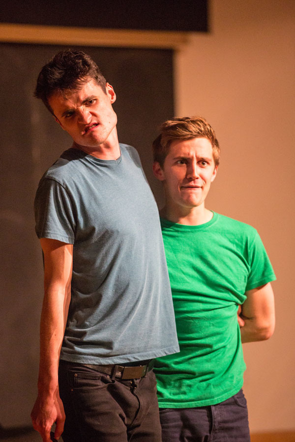Luke Summer and Archie Henderson-Cleland brought the house down with an interactive sketch in which they pretended to be grapes gossiping on a vine. (credit: Brandon Hong/)