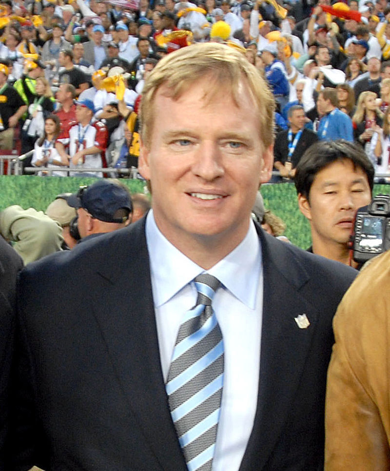 Roger Goodell at Super Bowl 43. (credit: Staff Sgt. Bradley Lail)