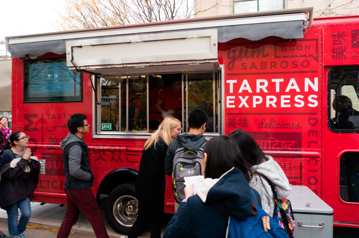 The Allegheny Health Inspector shut down the Tartan Express food truck on Thursday for violating the health code. The source of the violation, according to campus sources, was a kinked hose. (credit: Abhinav Gautam/Photo Editor)