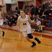 Junior guard Jackie Hudepohl drives to the basket from the perimeter. Hudepohl scored 14 points.