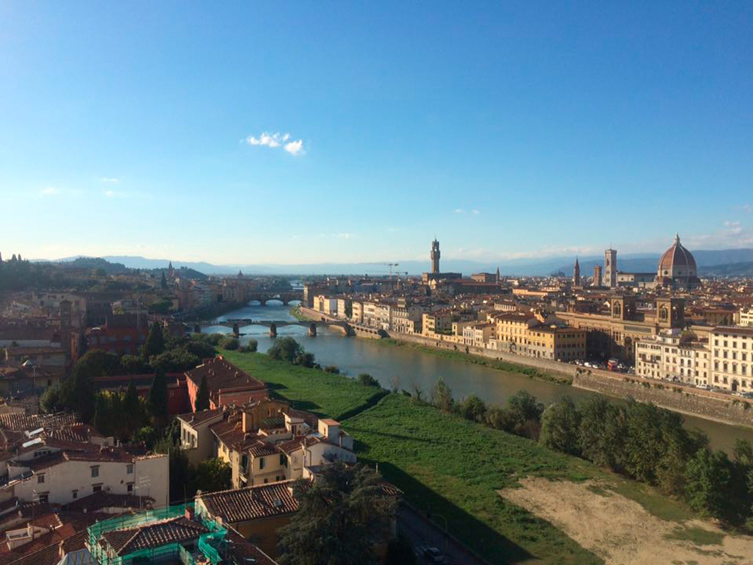 A view of the beautiful city of Florence and the Arne River from the top of Torre San Niccolo. (credit: Autumn Hill/Junior Photographer)