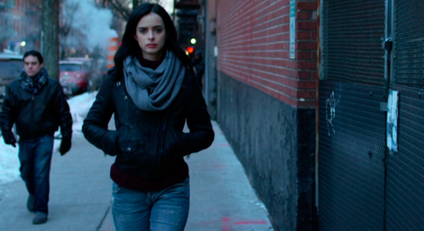 Krysten Ritter plays the titular role of Jessica Jones, a superhuman P.I. with a dark past. (credit: Courtesy of Netflix)