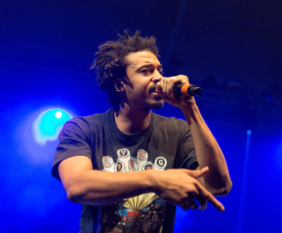 Ratking, a New York City-native hip-hop group, opened for Danny Brown. The group consists of several artists, including Wiki, Hak (pictured above), and Sporting Life.  (credit: Stefen Zhu/)