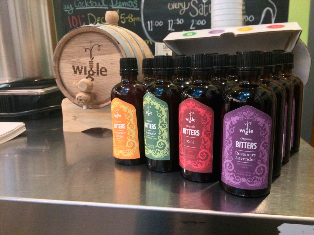Wigle has an extensive collection of bitters, perfect for the holidays. (credit: Sarah Gutekunst/Operations Manager)