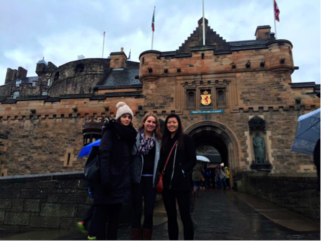 Junior chemical engineering and engineering and public policy major Sam Ho poses in front of the Edinburgh Castle during a trip to the historic Scottish city. (credit: Courtesy of Sam Ho)