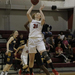 Lisa Murphy focuses on making a jump shot against Emory University.
