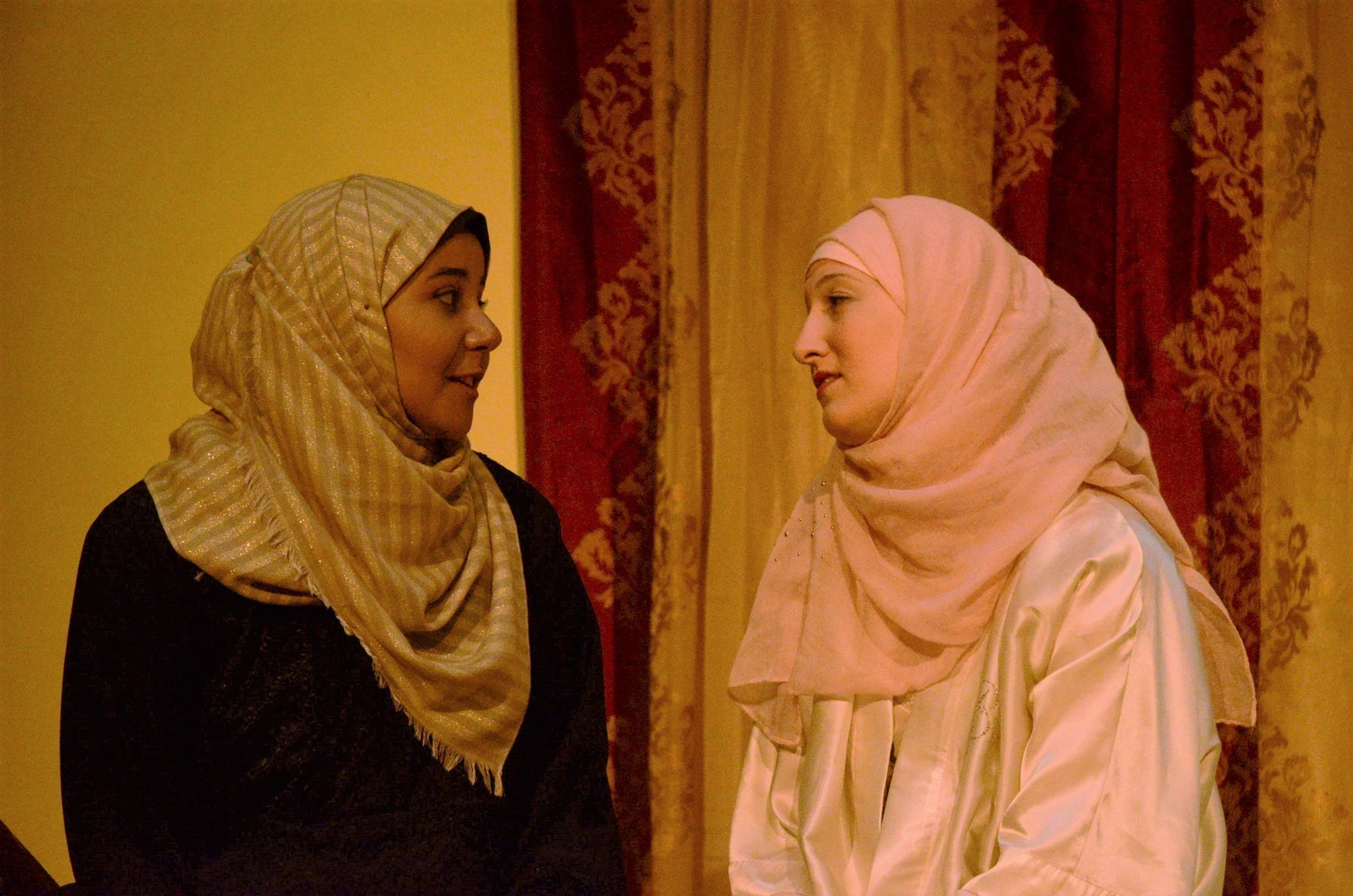 Masuma speaks to Tahera (played by Schindler). (credit: Theodore Teichman/Assistant Photo Editor)
