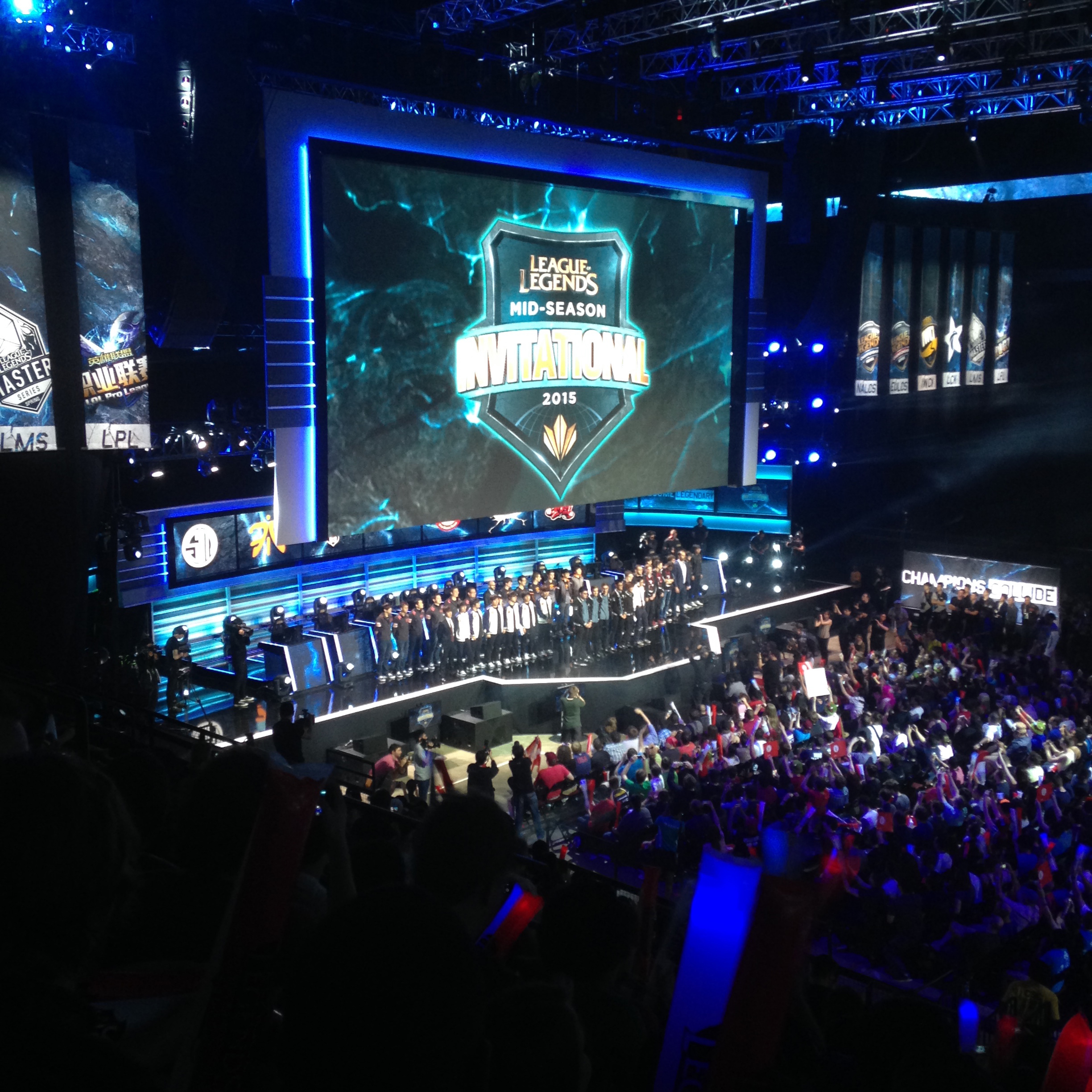The players gather on stage for a round of applause after last year's MSI. (credit: Courtesy of Shane Davis)