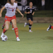 Sophomore forward Katja Bracklemanns-Puig focuses on dribbling the ball toward the goal on Wednesday.