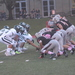 The Tartan defense lines up near the goal line to try and block a field goal attempt by Bethany in Saturday's game.