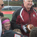 Head football coach Rich Lackner  was all smiles after earning his 200th career win, each one at Carnegie Mellon.