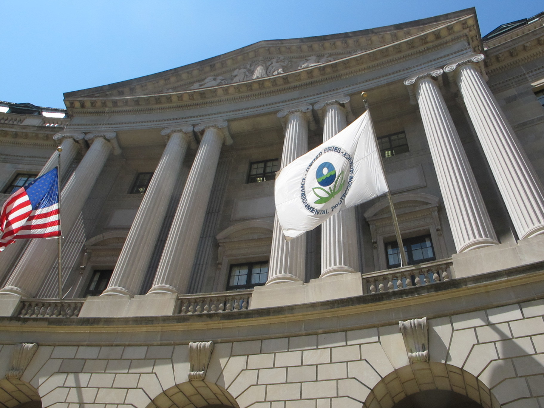 The Environment Protection Agency's headquarters in Washington, D.C. (credit: Courtesy of the Natural Resources Defense Council, via Flickr)