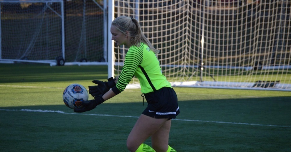 First-year goalkeeper Carolyn Botz is a force to be reckoned with. (credit: Courtesy of CMU Athletics)