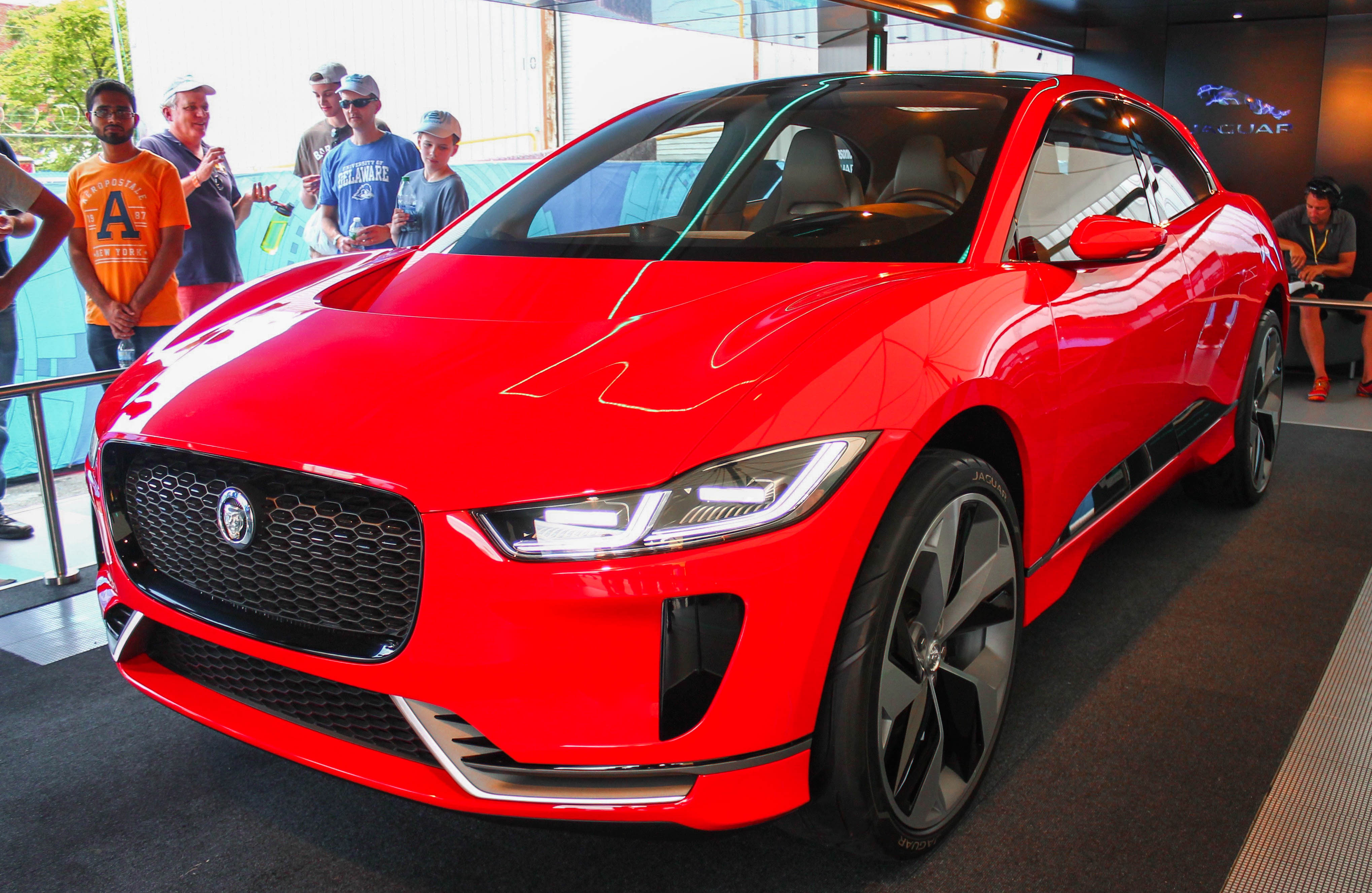 The Jaguar I-Pace concept at the 2017 New York City Formula E ePrix. The bodywork of this stunning concept is supposedly quite close to the production version and is due next year.
