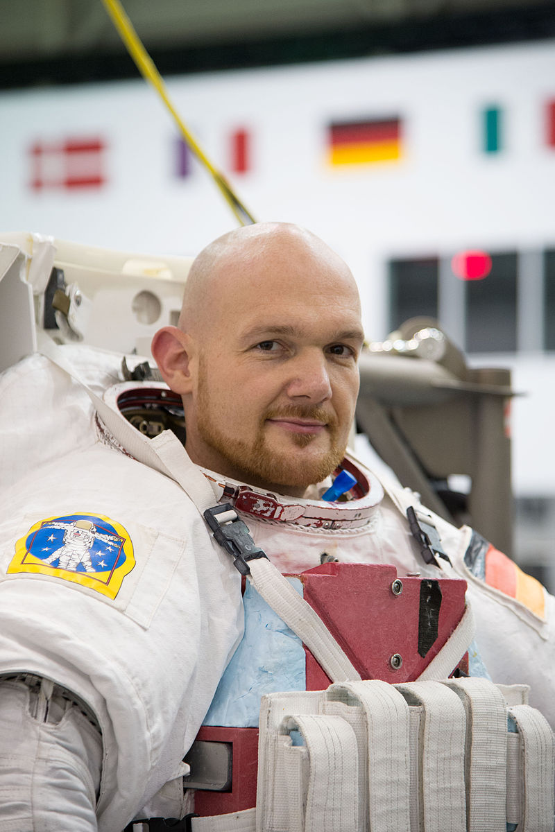German astronaut Alexander Gerst. Gerst, the second European Space Agency astronaut to serve as commander onboard the International Space Station, plugged the recent leak with his thumb. (credit: Courtesy of NASA/James Blair via Wikimedia Commons)