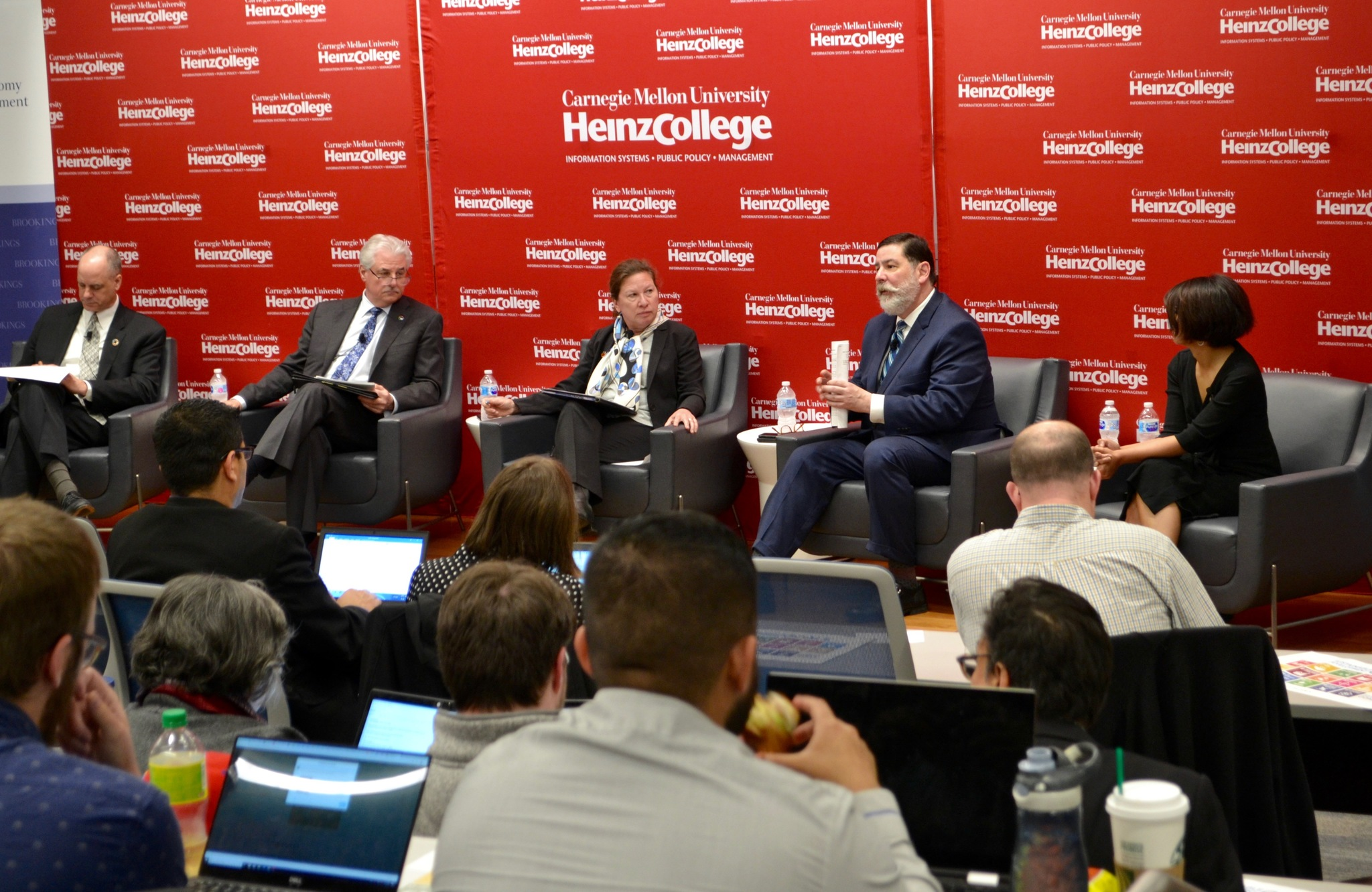 Panelists, among them Pittsburgh Mayor Bill Peduto, discussed the city's planned sustainability efforts this past Thursday. (credit: Courtesy of Carnegie Mellon University)