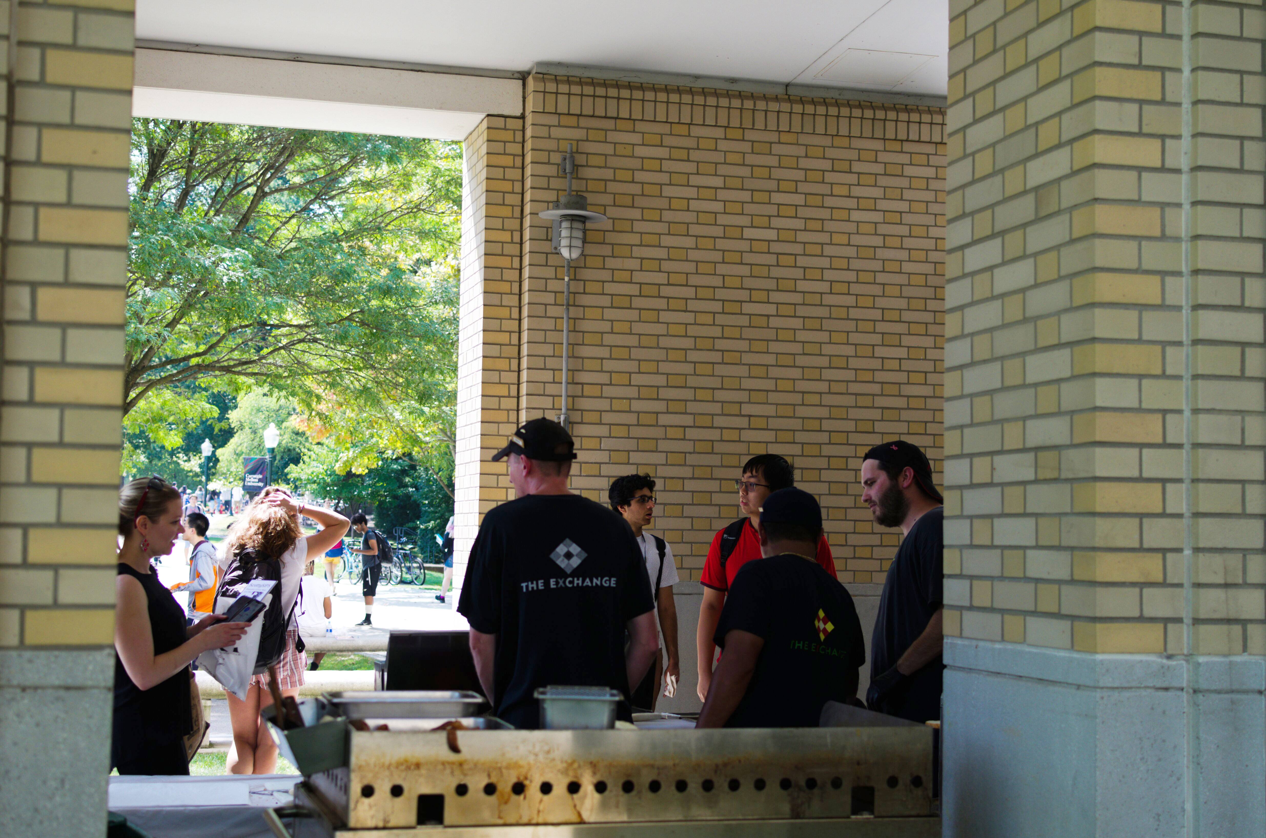 The new outdoor space will run until renovations in Posner Hall are completed.