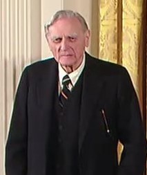 John B. Goodenough of the University of Texas at Austin, who was the primary developer of the lithium-ion battery. (credit: Courtesy of White House Archive via Wikimedia Commons)