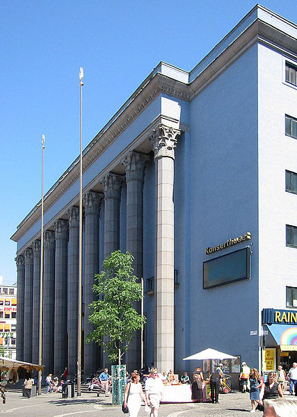 The Stockholm Concert Hall in Sweden, where laureates will be presented with the Nobel Prizes in December 2019. (credit: Courtesy of Andreas Praefcke via Wikimedia Commons)