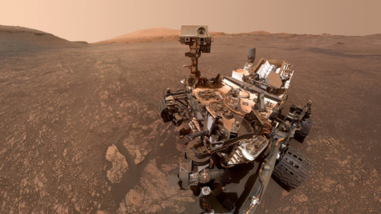 The Curiosity rover is currently exploring the Gale Crater on Mars, and took this image using its Mars Hand Lens Imager (MAHLI). (credit: Courtesy of NASA Jet Propulsion Laboratory)