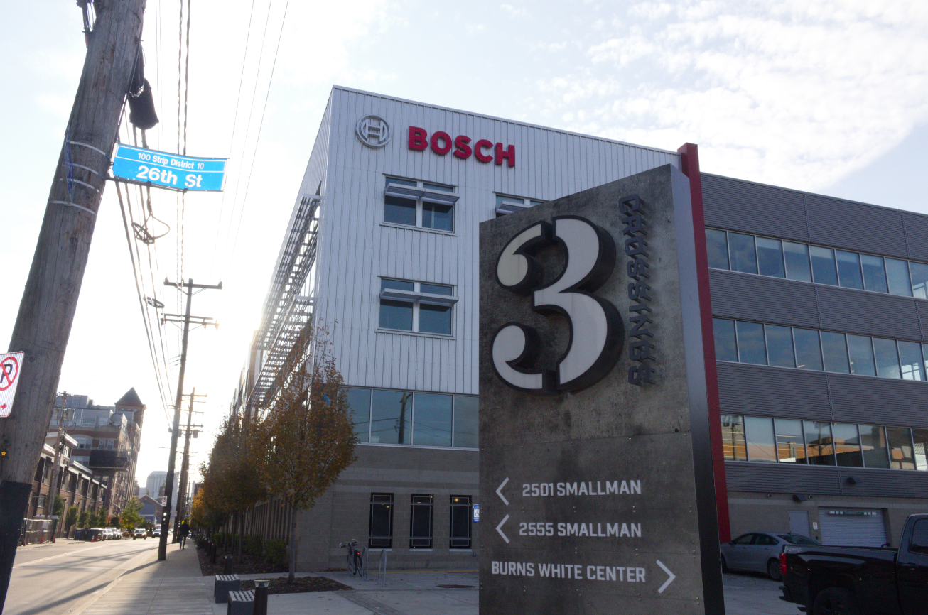 Honeywell's new robotics center in the Strip District will be housed in the 3 Crossings business development, a 25,000 sqaure foot space on the corner of 26th Street and Smallman Street formerlly occupied by Robert Bosch.  (credit: Adam Tunnard/News Editor)