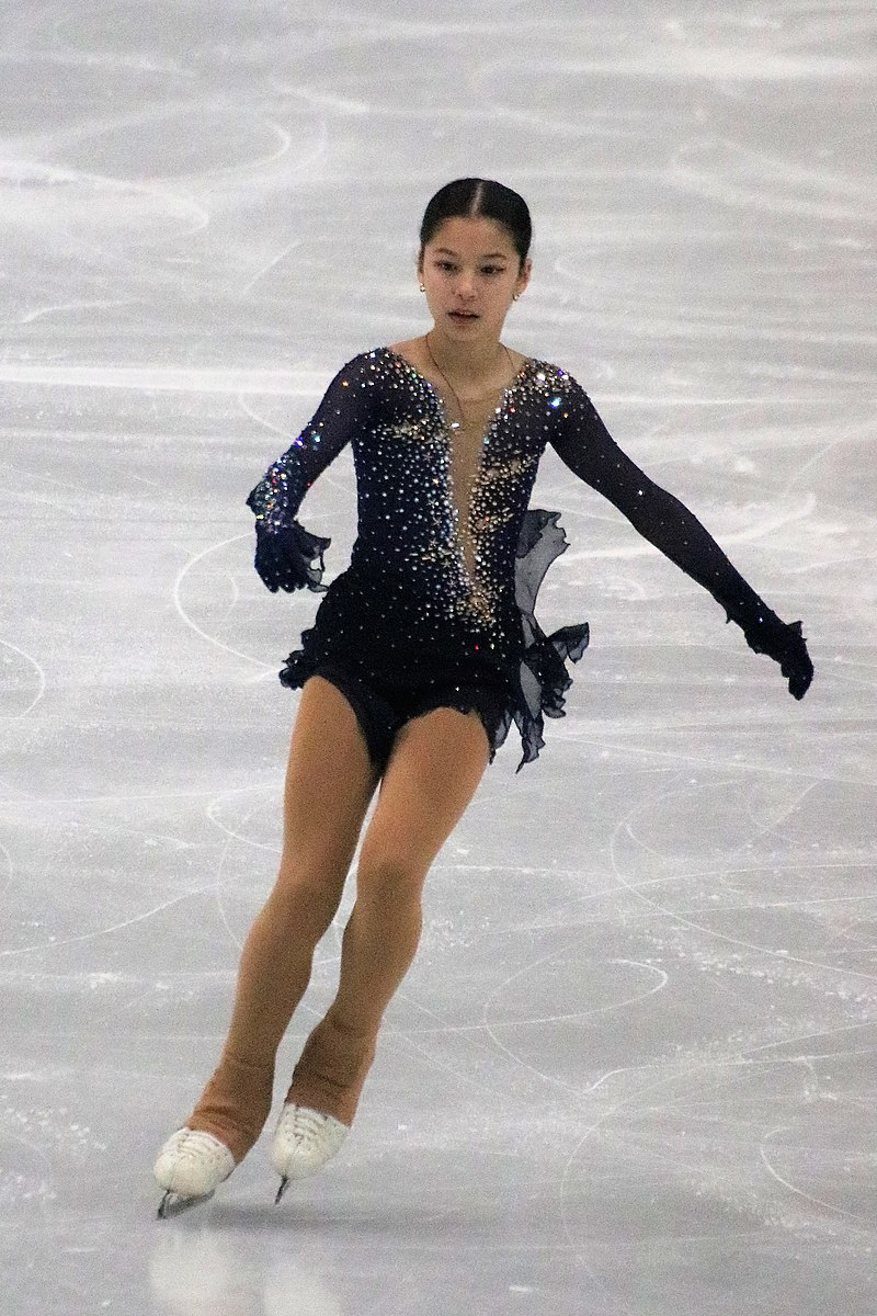 Alysa Liu competing at the 2019 ISU Junior Grand Prix Final in December, in which she scored a personal best and placed second. (credit: Photo courtesy of Luu via Wikimedia Commons)
