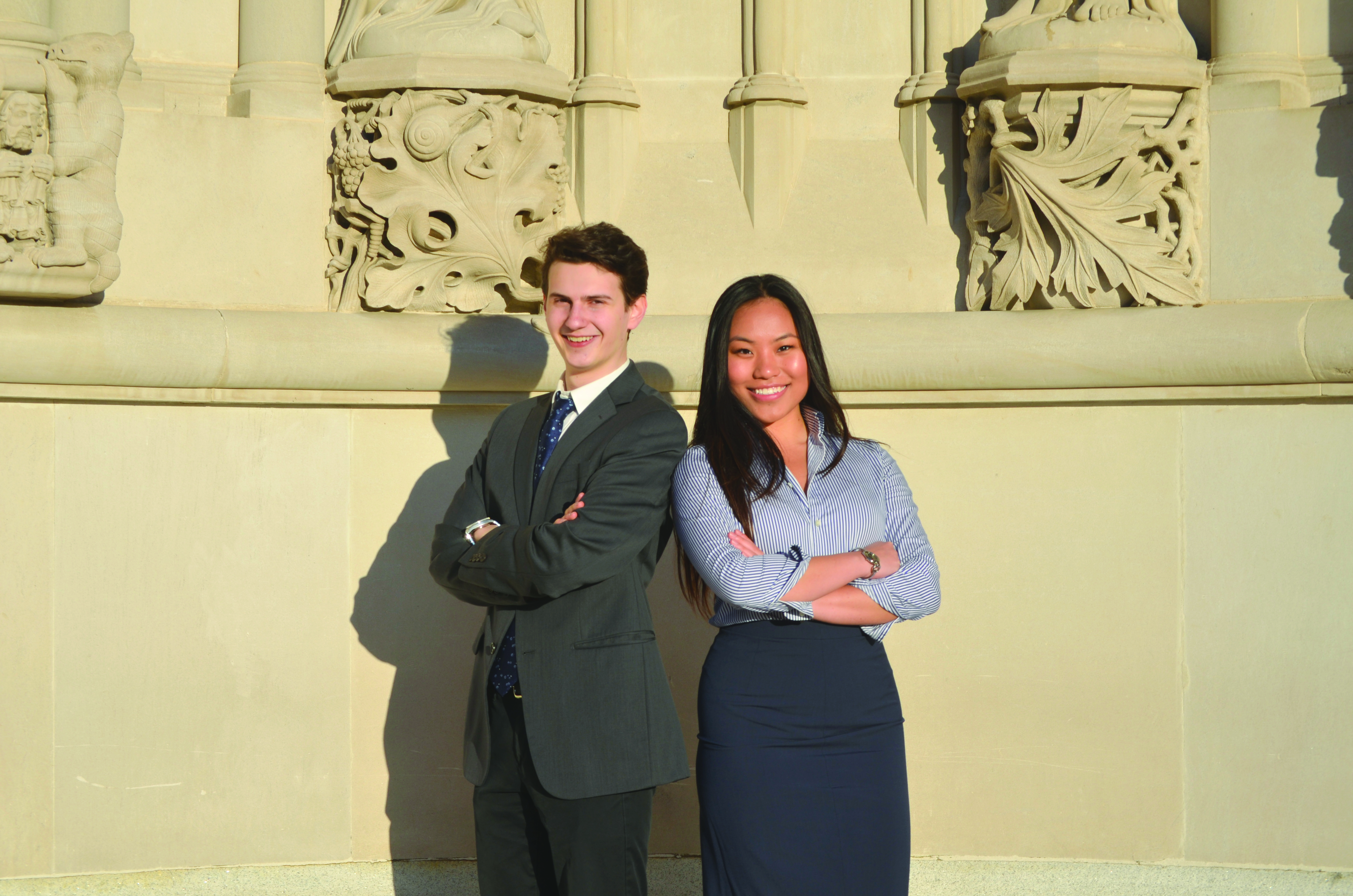 Evan Feder and  Wenyi Zhu, Student Body President and Vice President respectively, are not planning to re-run for a role in student government. (credit: Nora Mattson/Chief Technology Officer)