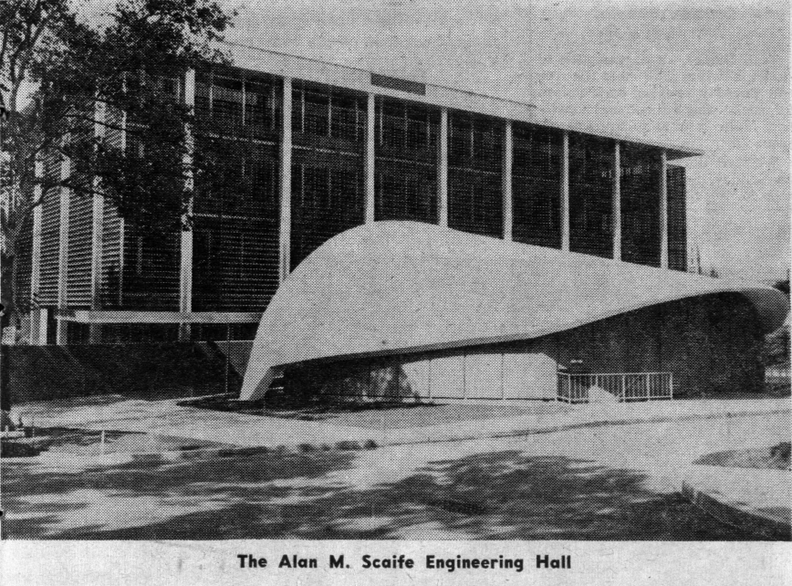 A freshly build Alan M. Scaife Engineering Hall in Sept. of 1962. The site is now razed, and construction has begun on a New Scaife Hall, set to be built by 2023.