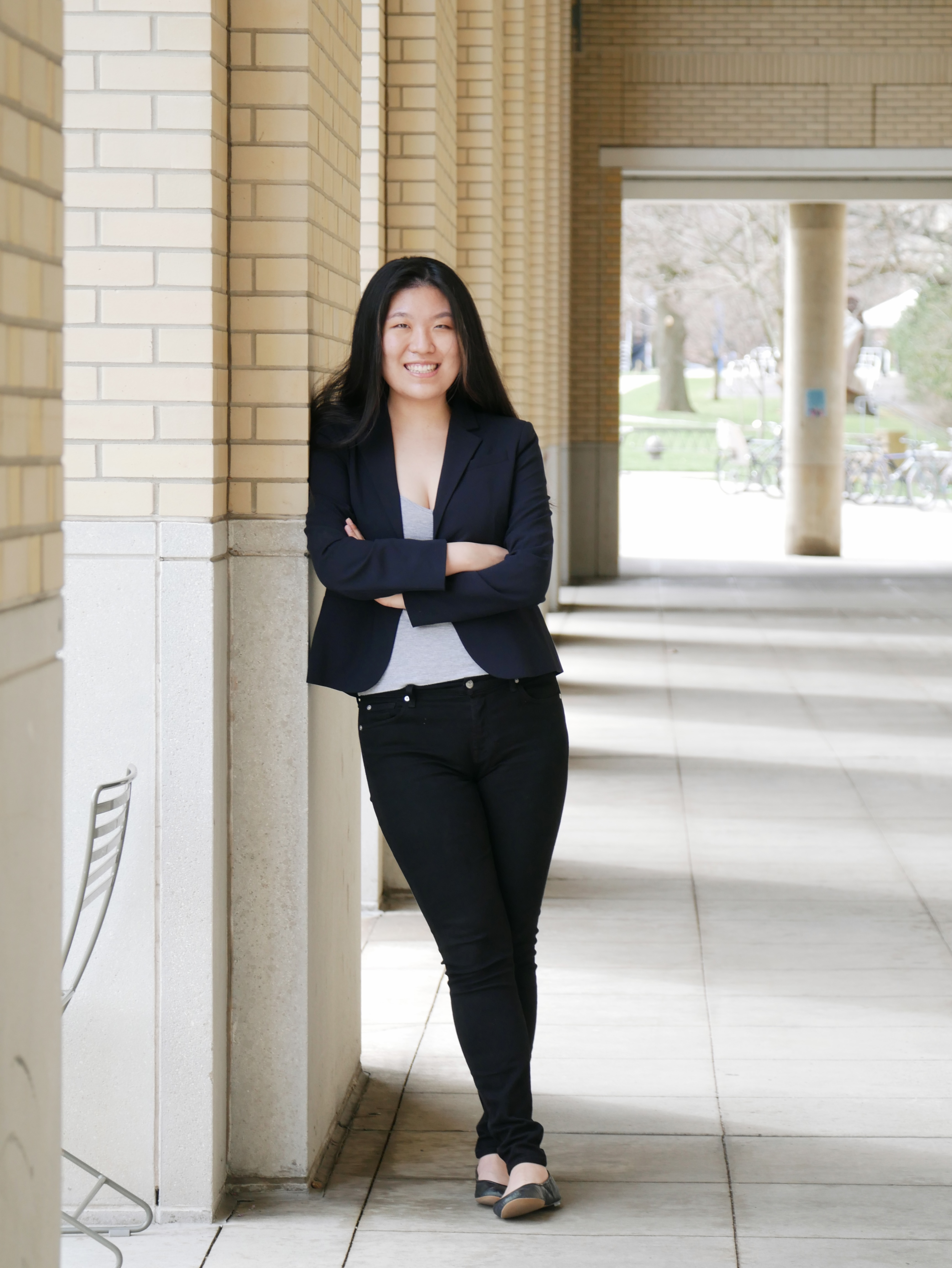 Student Body Vice President of Finance Candidate Sun A Cho.